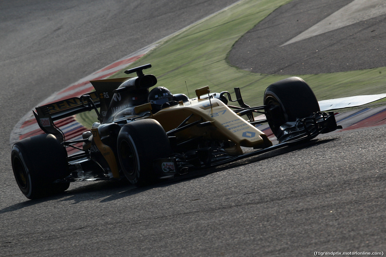 TEST F1 BARCELLONA 27 FEBBRAIO, 27.02.2017 - Nico Hulkenberg (GER) Renault Sport F1 Team RS17