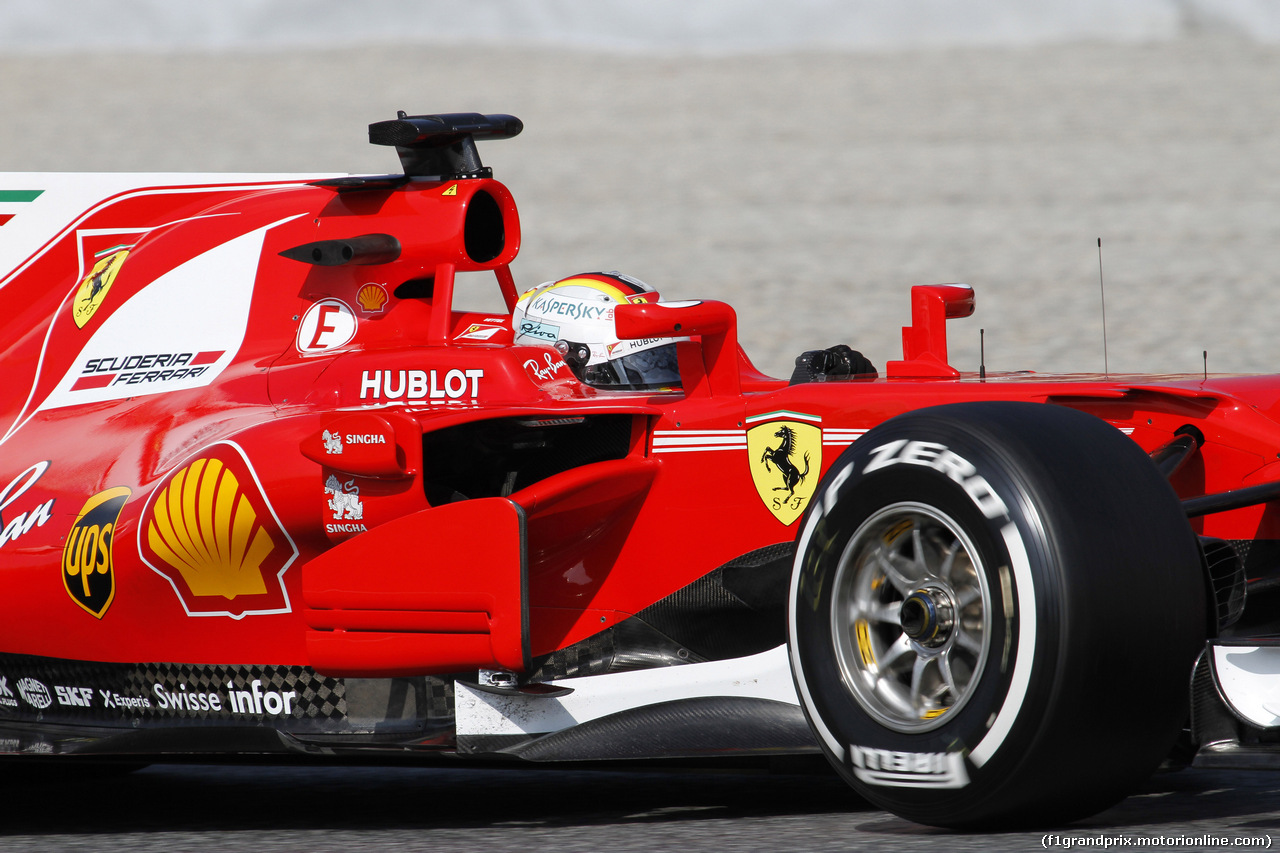 TEST F1 BARCELLONA 27 FEBBRAIO, 27.02.2017 - Sebastian Vettel (GER) Ferrari SF70H