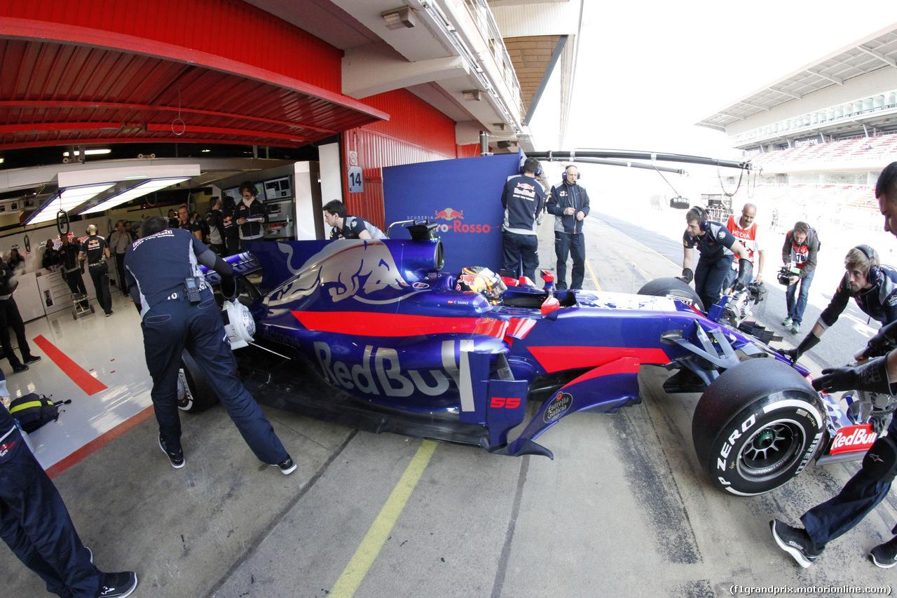 TEST F1 BARCELLONA 27 FEBBRAIO, 27.02.2017 - Carlos Sainz Jr (ESP) Scuderia Toro Rosso STR12