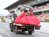 TEST F1 BARCELLONA 8 MARZO, The Ferrari SF70H of Kimi Raikkonen (FIN) Ferrari is recovered back to the pits on the back of a truck.. 08.03.2017.