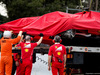 TEST F1 BARCELLONA 8 MARZO, The crashed Ferrari SF70H of Kimi Raikkonen (FIN) Ferrari is recovered back to the pits on the back of a truck. 08.03.2017.