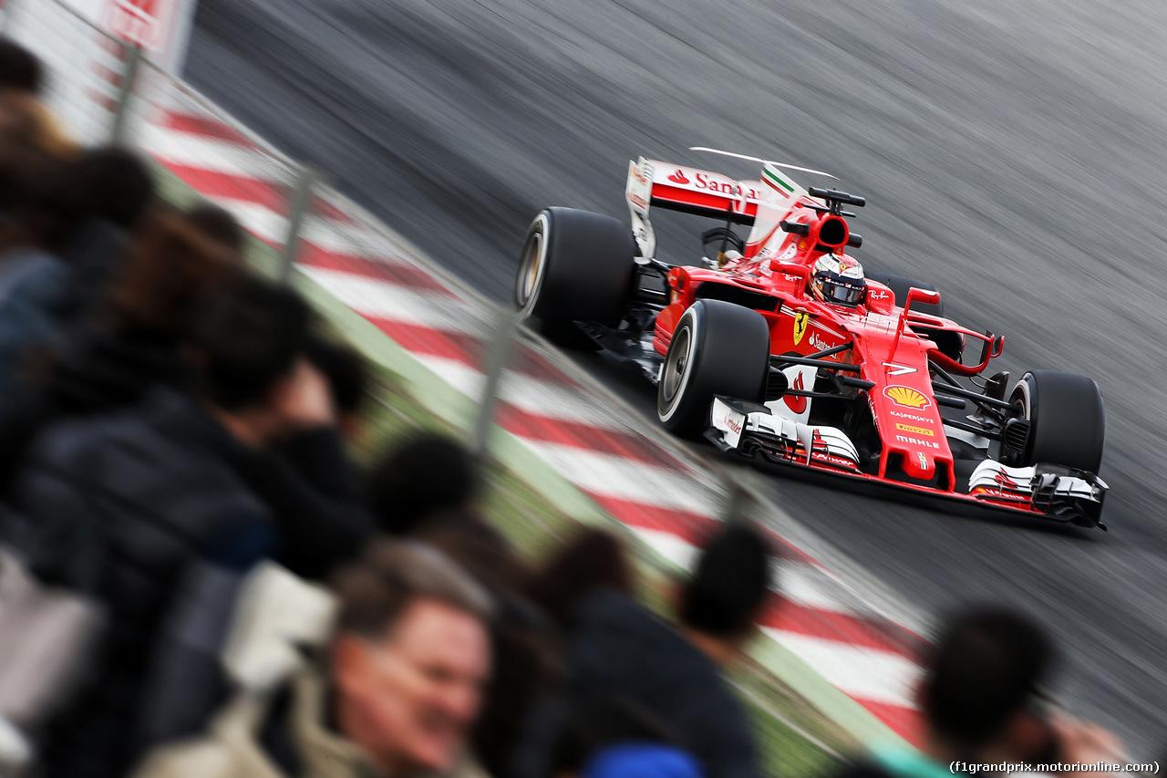 TEST F1 BARCELLONA 8 MARZO, Kimi Raikkonen (FIN) Ferrari SF70H. 08.03.2017.