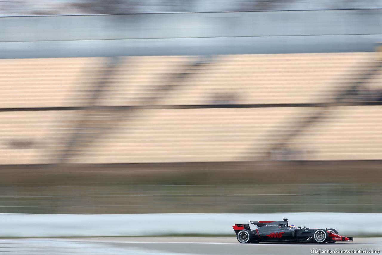 TEST F1 BARCELLONA 8 MARZO, Romain Grosjean (FRA) Haas F1 Team  08.03.2017.