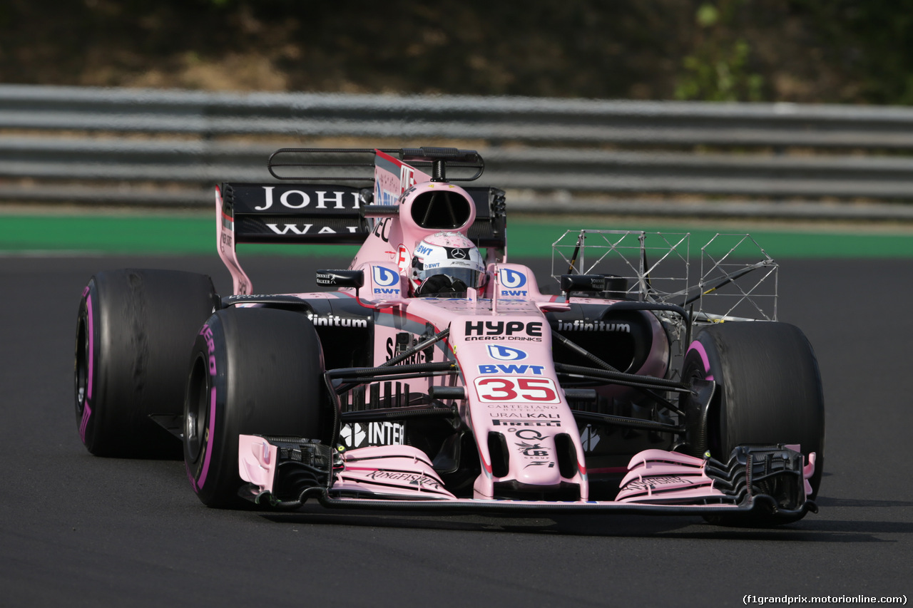 TEST F1 BUDAPEST 02 AGOSTO, Lucas Auer (AUT) Sahara Force India F1 VJM10 Test Driver. 02.08.2017.