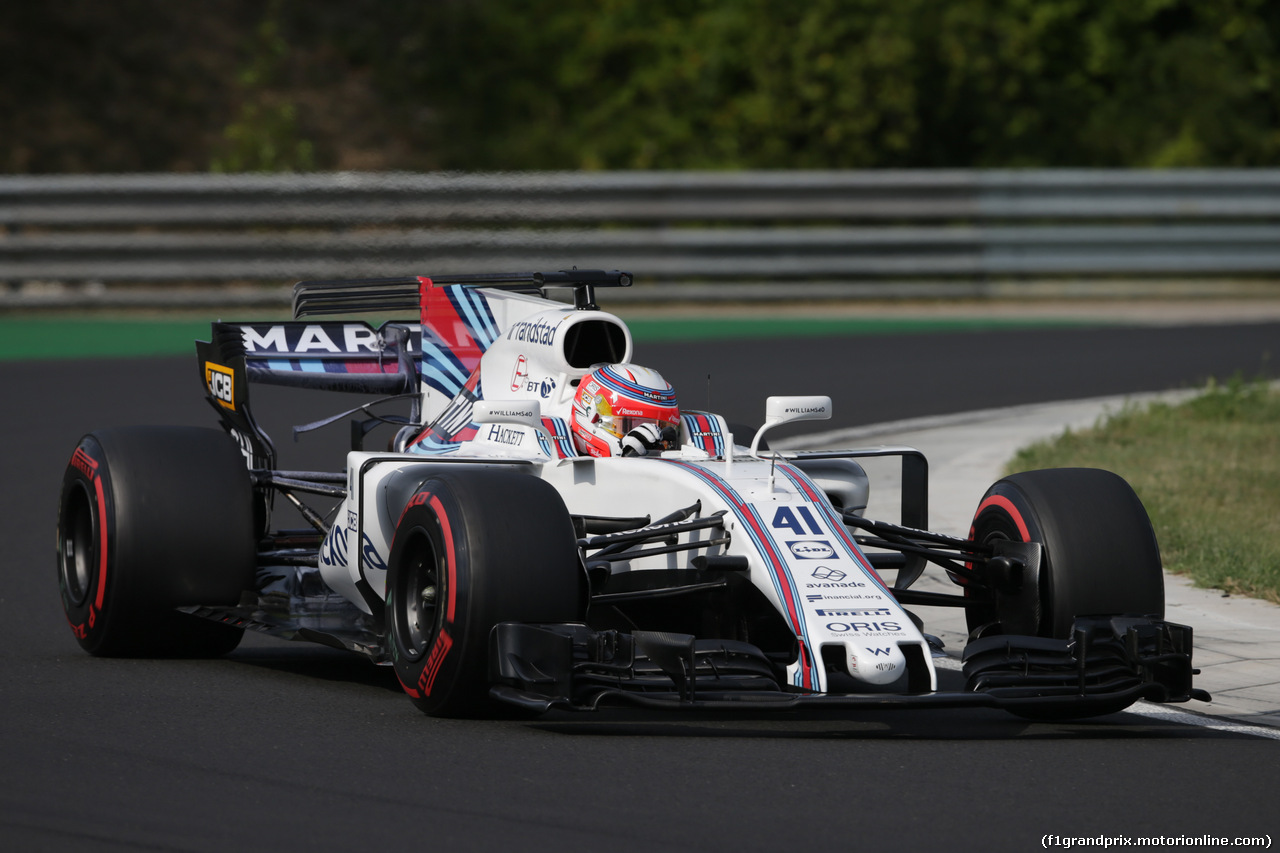 TEST F1 BUDAPEST 02 AGOSTO, Luca Ghiotto (ITA) Williams FW40 Test Driver. 02.08.2017.