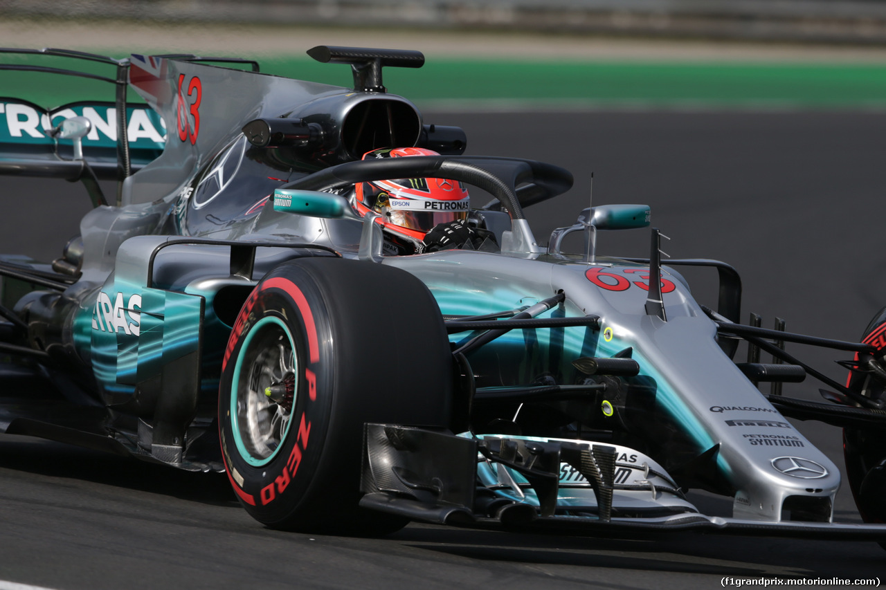 TEST F1 BUDAPEST 02 AGOSTO, George Russell (GBR) Mercedes AMG F1 W08 Test Driver. 02.08.2017.