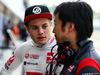 TEST F1 BUDAPEST 02 AGOSTO, (L to R): Santino Ferrucci (USA) Haas F1 Team Development Driver with Ayao Komatsu (JPN) Haas F1 Team Gara Engineer. 02.08.2017.