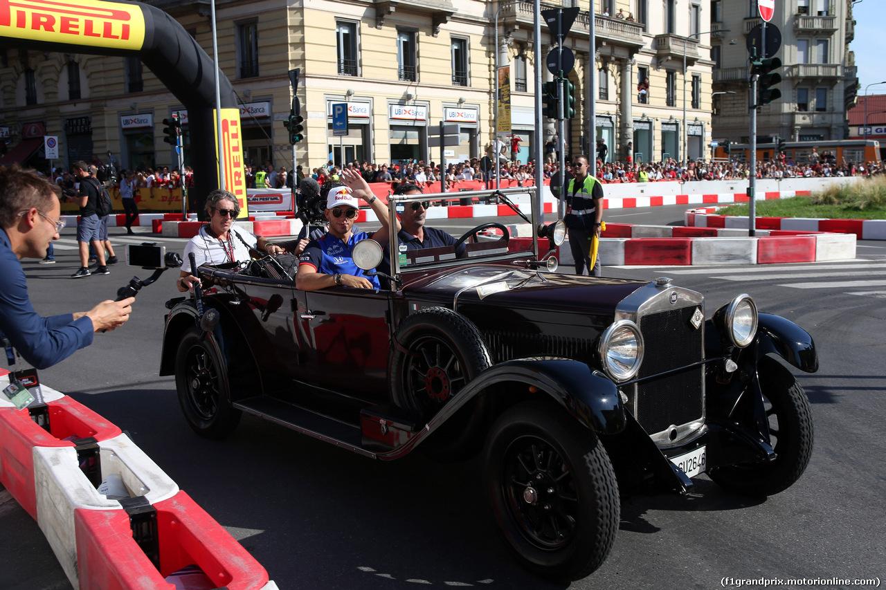 F1 MILAN FESTIVAL 2018, 29.08.2018 - Pierre Gasly (FRA) Scuderia Toro Rosso STR13