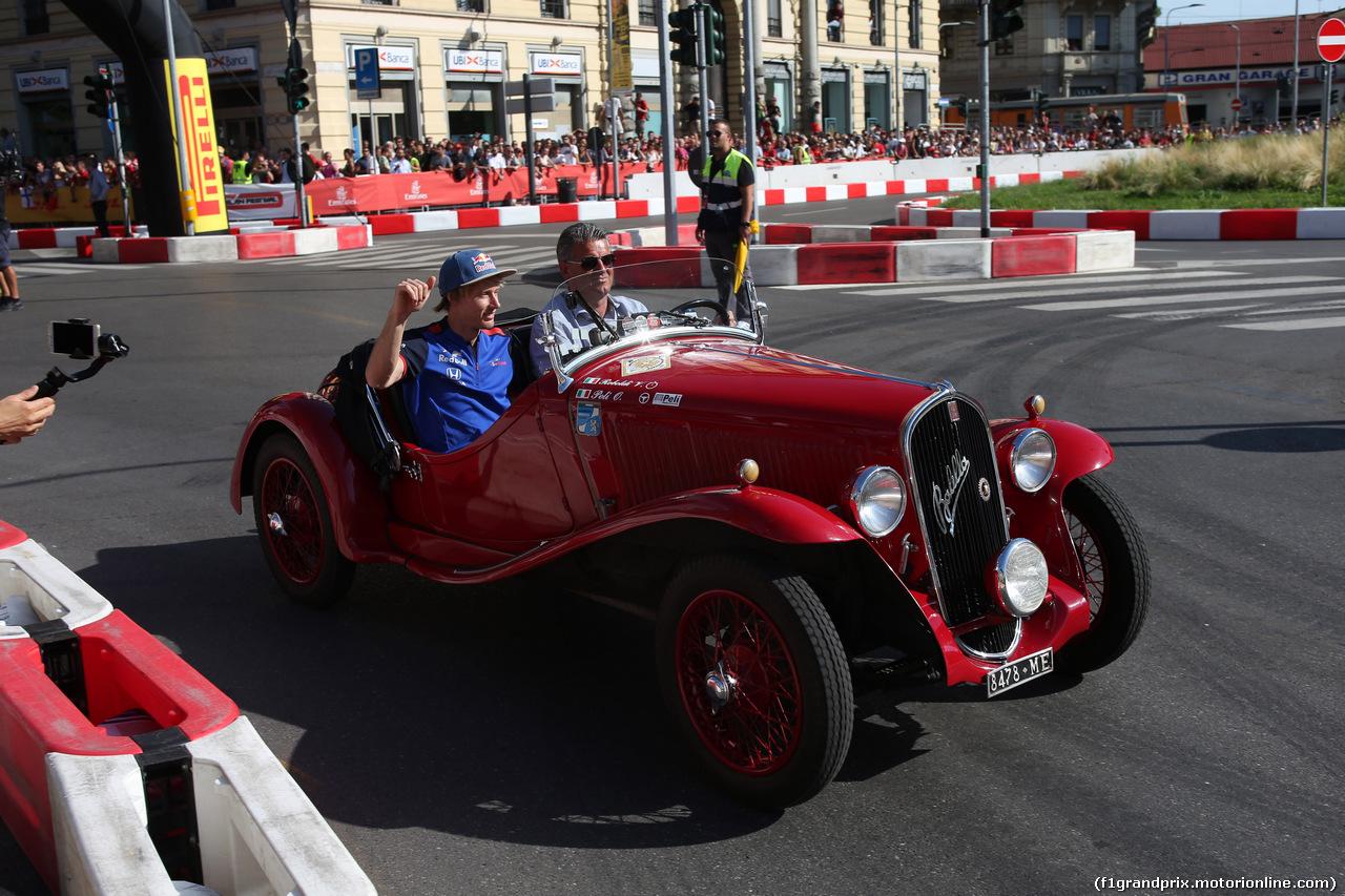 F1 MILAN FESTIVAL 2018, 29.08.2018 - Brendon Hartley (NZL) Scuderia Toro Rosso STR13