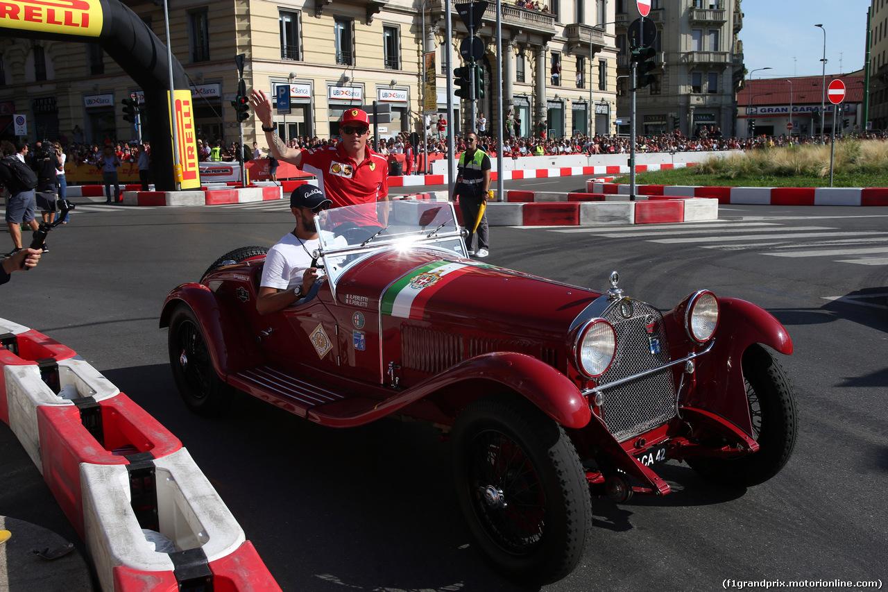 F1 MILAN FESTIVAL 2018, 29.08.2018 - Kimi Raikkonen (FIN) Ferrari SF71H