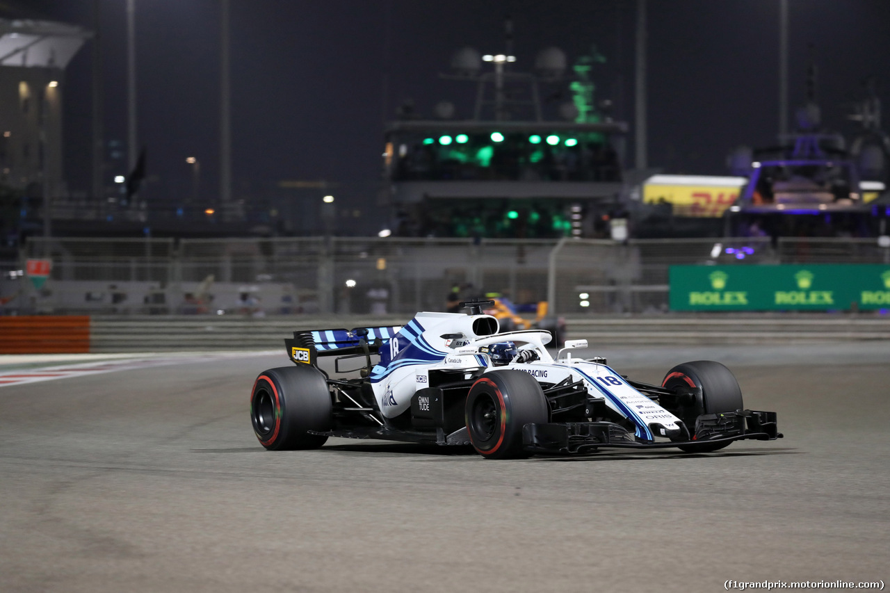 GP ABU DHABI, 25.11.2018 - Gara, Lance Stroll (CDN) Williams FW41