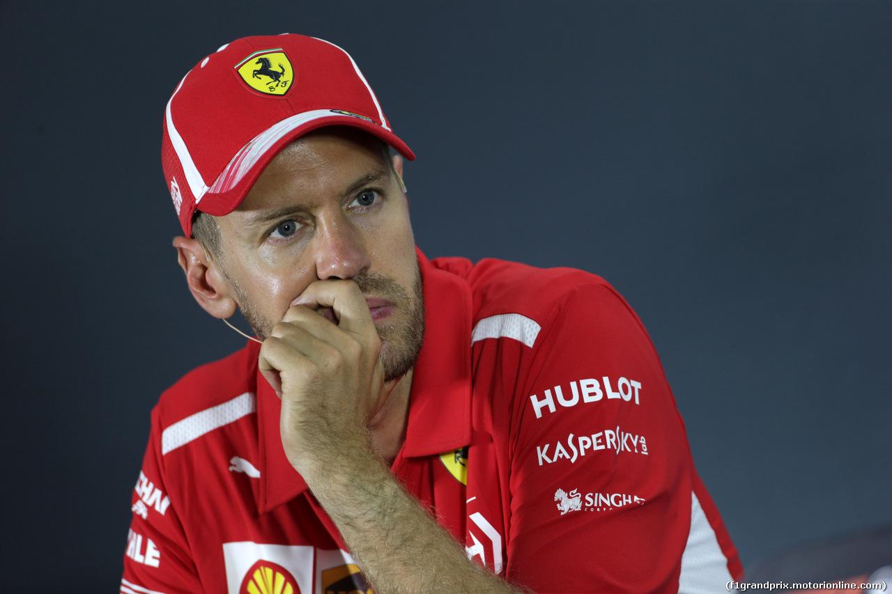 GP ABU DHABI, 25.11.2018 - Gara, Conferenza Stampa, Sebastian Vettel (GER) Ferrari SF71H