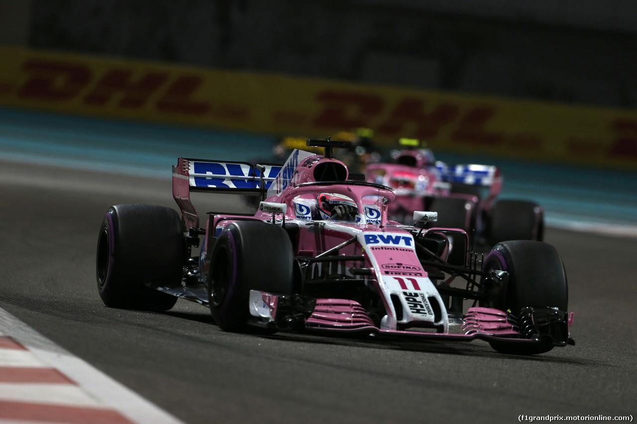 GP ABU DHABI, 25.11.2018 - Gara, Sergio Perez (MEX) Racing Point Force India F1 VJM11