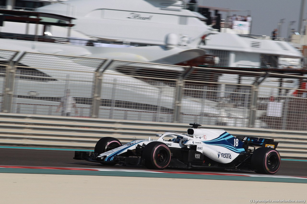 GP ABU DHABI, 24.11.2018 - Prove Libere 3, Lance Stroll (CDN) Williams FW41