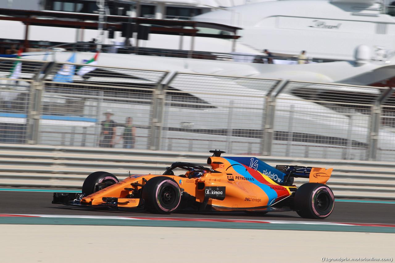 GP ABU DHABI, 24.11.2018 - Prove Libere 3, Fernando Alonso (ESP) McLaren MCL33