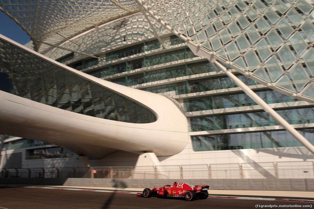 GP ABU DHABI, 24.11.2018 - Prove Libere 3, Kimi Raikkonen (FIN) Ferrari SF71H