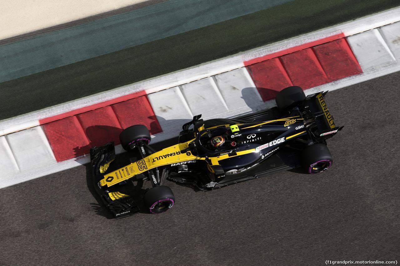 GP ABU DHABI, 24.11.2018 - Prove Libere 3, Carlos Sainz Jr (ESP) Renault Sport F1 Team RS18
