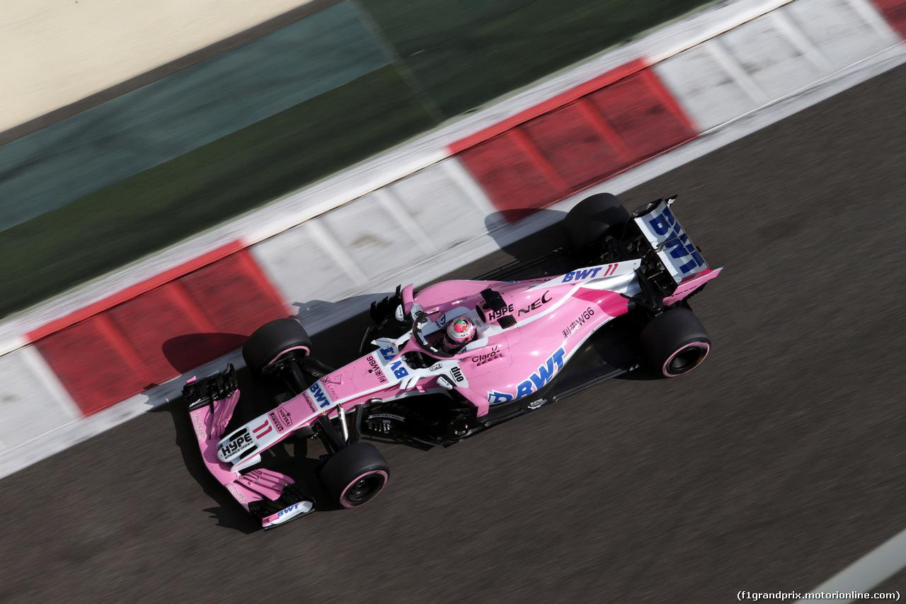 GP ABU DHABI, 24.11.2018 - Prove Libere 3, Sergio Perez (MEX) Racing Point Force India F1 VJM11