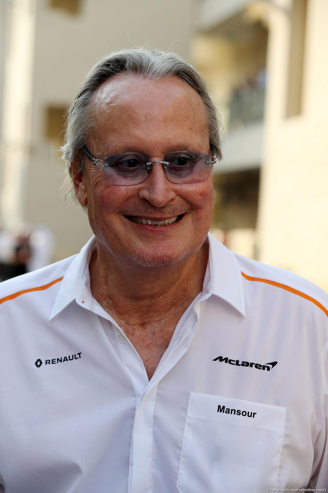 GP ABU DHABI, 24.11.2018 - Qualifiche, Mansour Ojeh, McLaren shareholder