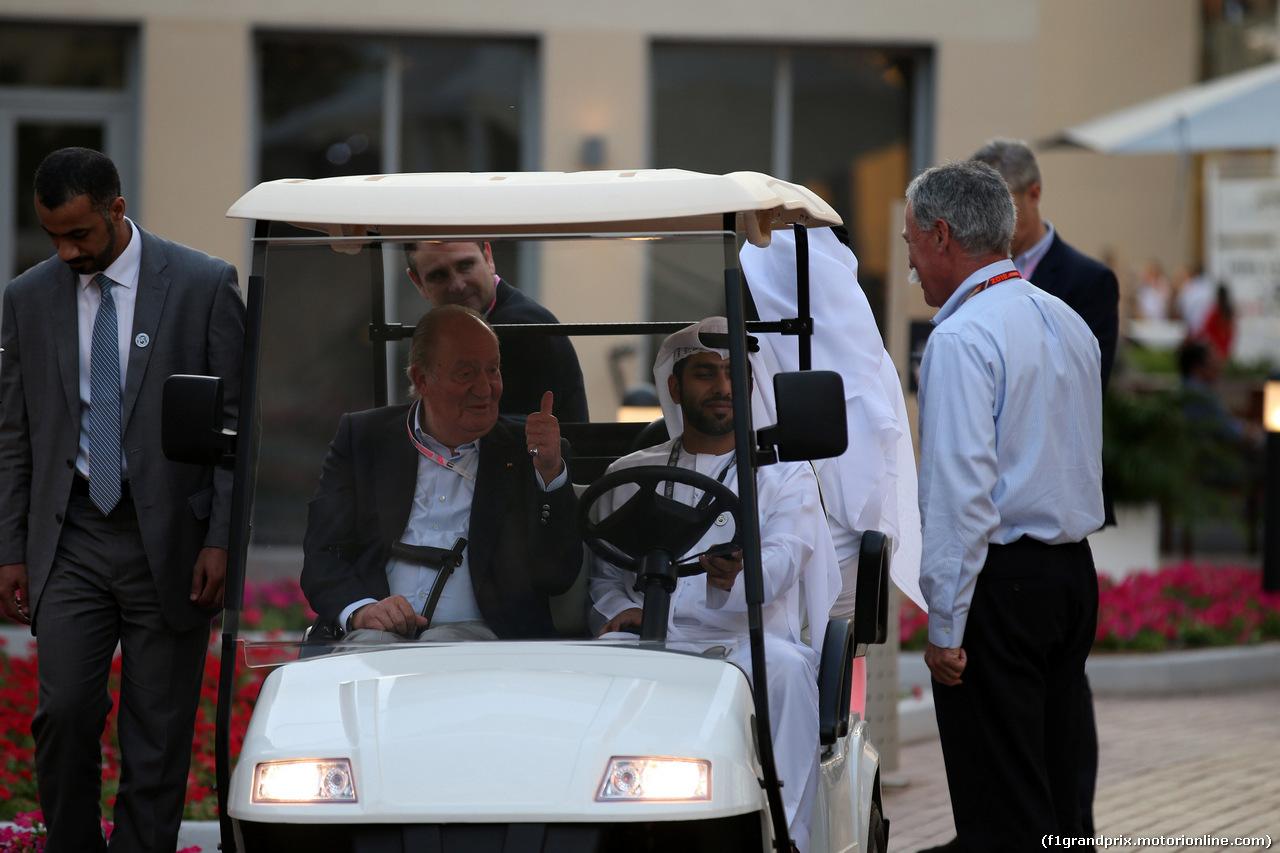 GP ABU DHABI, 24.11.2018 - Qualifiche, Juan Carlos, former King of Spain e Chase Carey (USA) Formula One Group Chairman