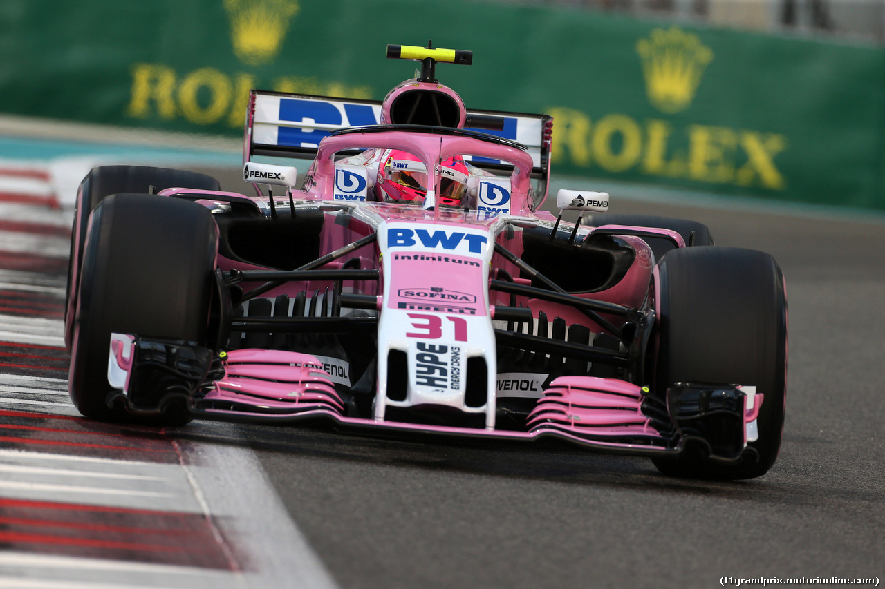 GP ABU DHABI, 24.11.2018 - Qualifiche, Esteban Ocon (FRA) Racing Point Force India F1 VJM11