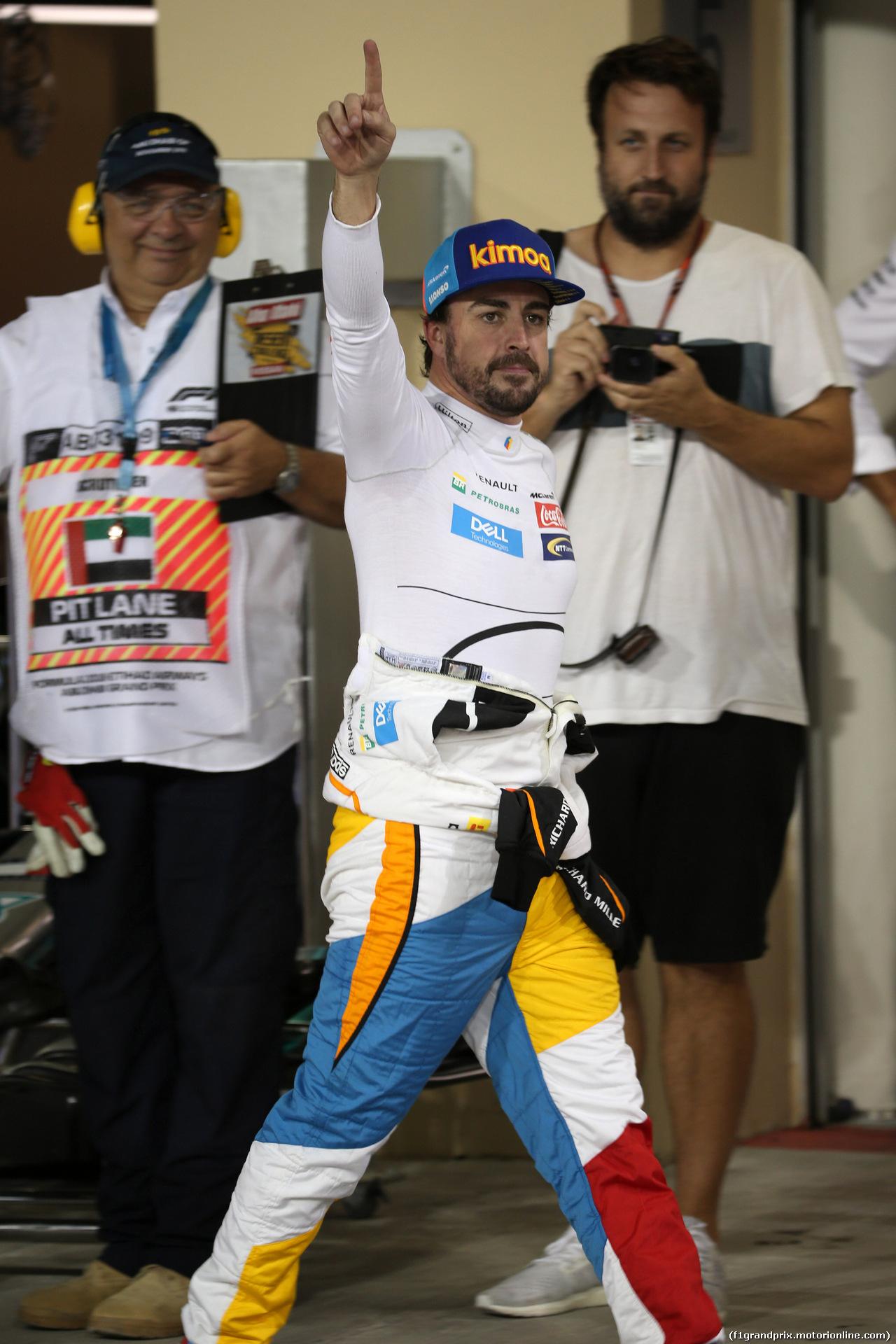 GP ABU DHABI, 24.11.2018 - Qualifiche, Fernando Alonso (ESP) McLaren MCL33
