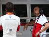 GP ABU DHABI, 24.11.2018 - Free Practice 3, Charles Leclerc (MON) Sauber C37 e Frederic Vasseur (FRA) Sauber Team Principal