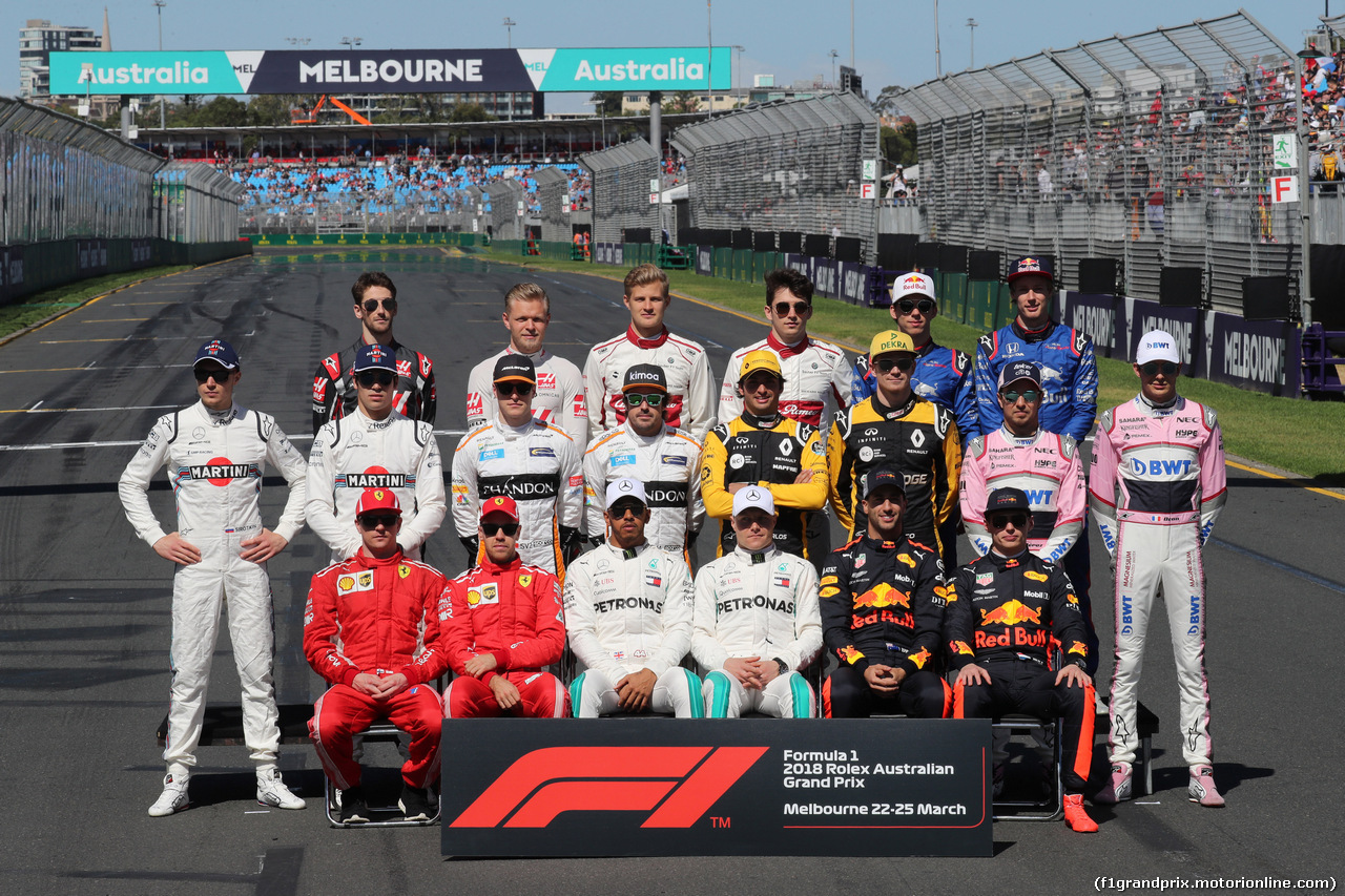 GP AUSTRALIA, 25.03.2018 - Drivers' photograph