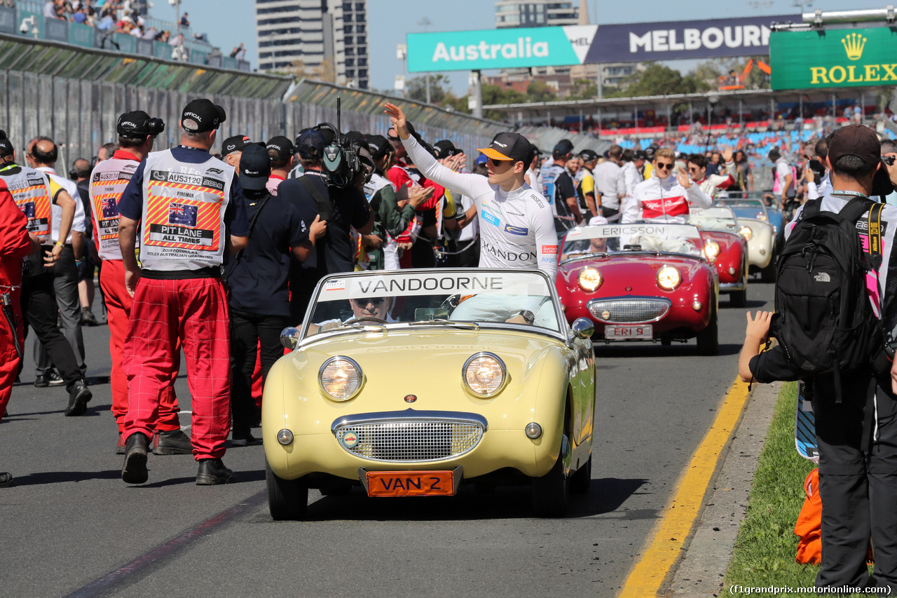 GP AUSTRALIA, 25.03.2018 - Stoffel Vandoorne (BEL) McLaren MCL33 at drivers parade