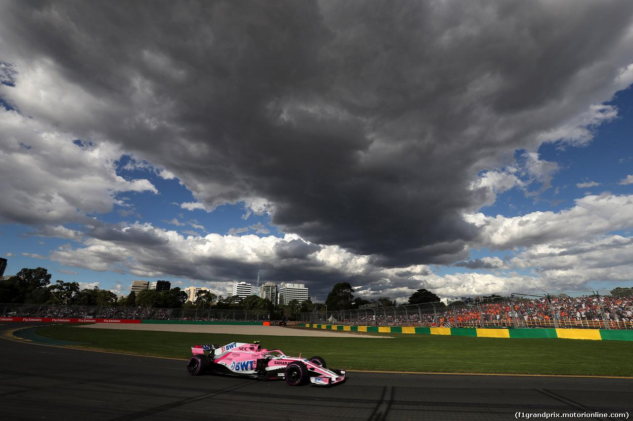 GP AUSTRALIA, 25.03.2018 - Gara, Esteban Ocon (FRA) Sahara Force India F1 VJM11