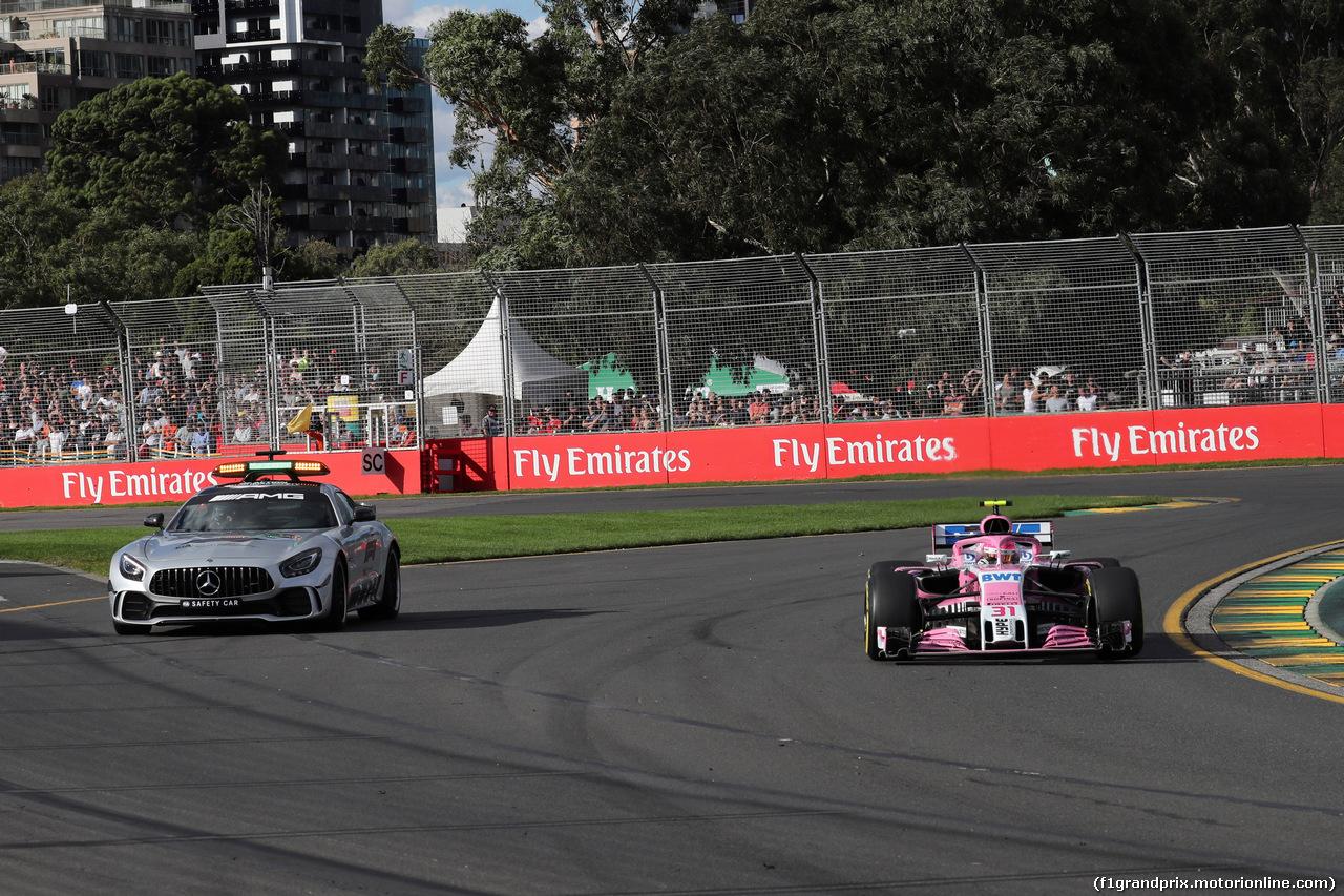 GP AUSTRALIA, 25.03.2018 - Gara, The Safety car e Sergio Perez (MEX) Sahara Force India F1 VJM011