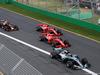 GP AUSTRALIA, 25.03.2018 - Gara, Start of the race, Lewis Hamilton (GBR) Mercedes AMG F1 W09 davanti a Kimi Raikkonen (FIN) Ferrari SF71H e Sebastian Vettel (GER) Ferrari SF71H