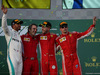 GP AUSTRALIA, 25.03.2018 - Gara, 2nd place Lewis Hamilton (GBR) Mercedes AMG F1 W09, Iñaki Rueda (ESP) Ferrari Strategy, Sebastian Vettel (GER) Ferrari SF71H vincitore e 3rd place Kimi Raikkonen (FIN) Ferrari SF71H