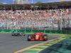 GP AUSTRALIA, 25.03.2018 - Gara, Sebastian Vettel (GER) Ferrari SF71H e Lewis Hamilton (GBR) Mercedes AMG F1 W09