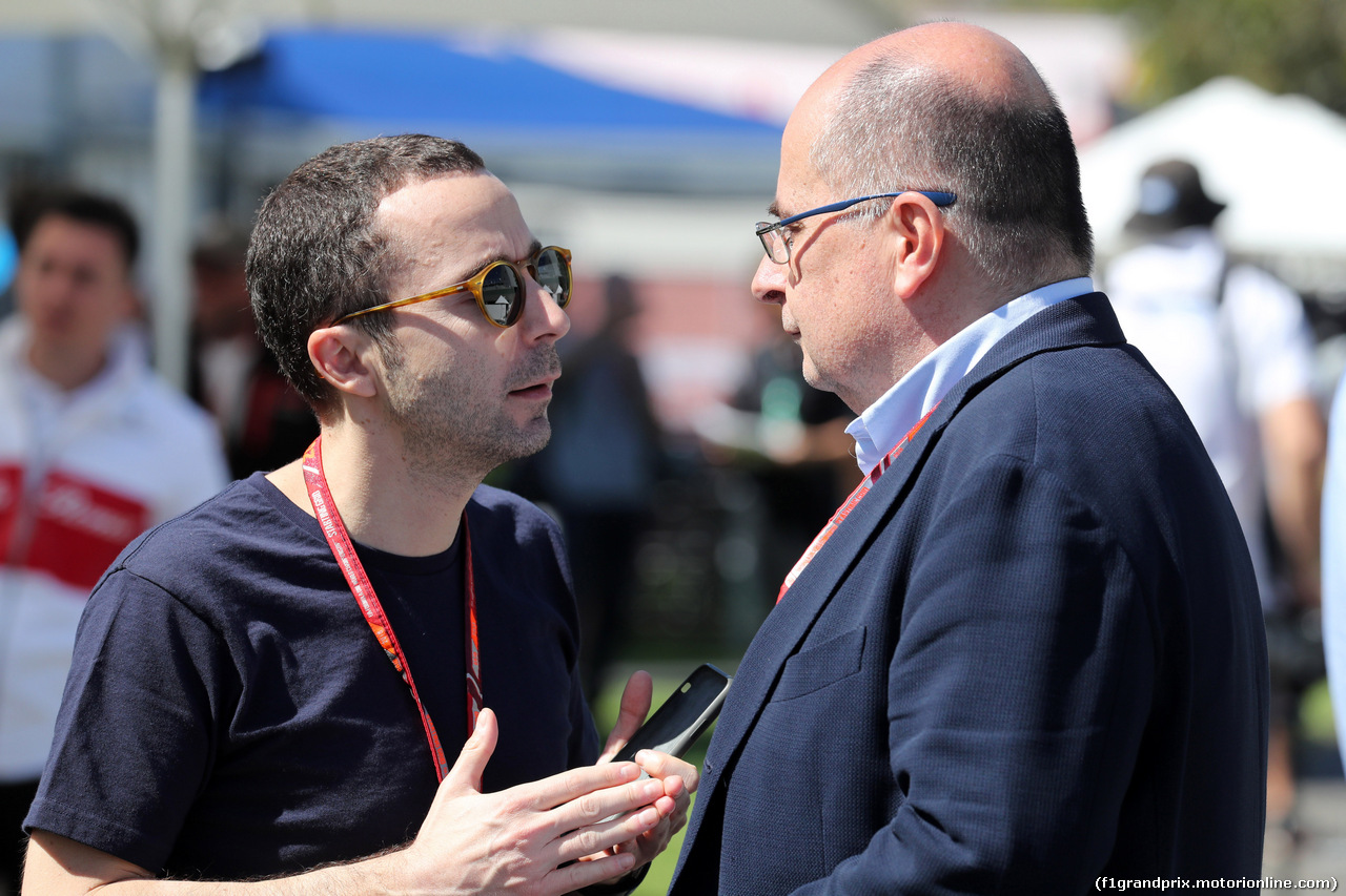 GP AUSTRALIA, 22.03.2018 - Nicola Todt (FRA) e Luca Colajanni (ITA), Formula One Senior Communications Officer