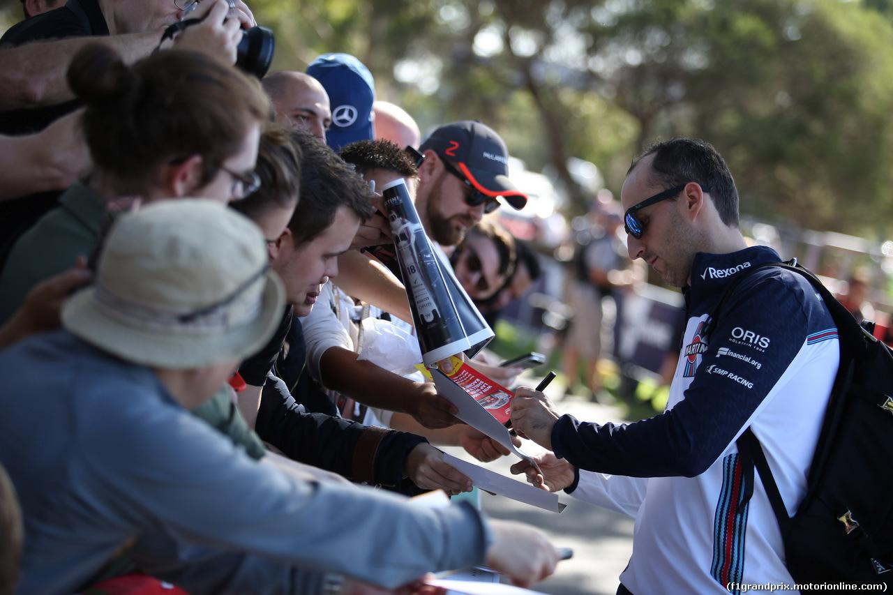 GP AUSTRALIA, 22.03.2018 - Robert Kubica (POL) Williams FW41 Reserve e Development Driver