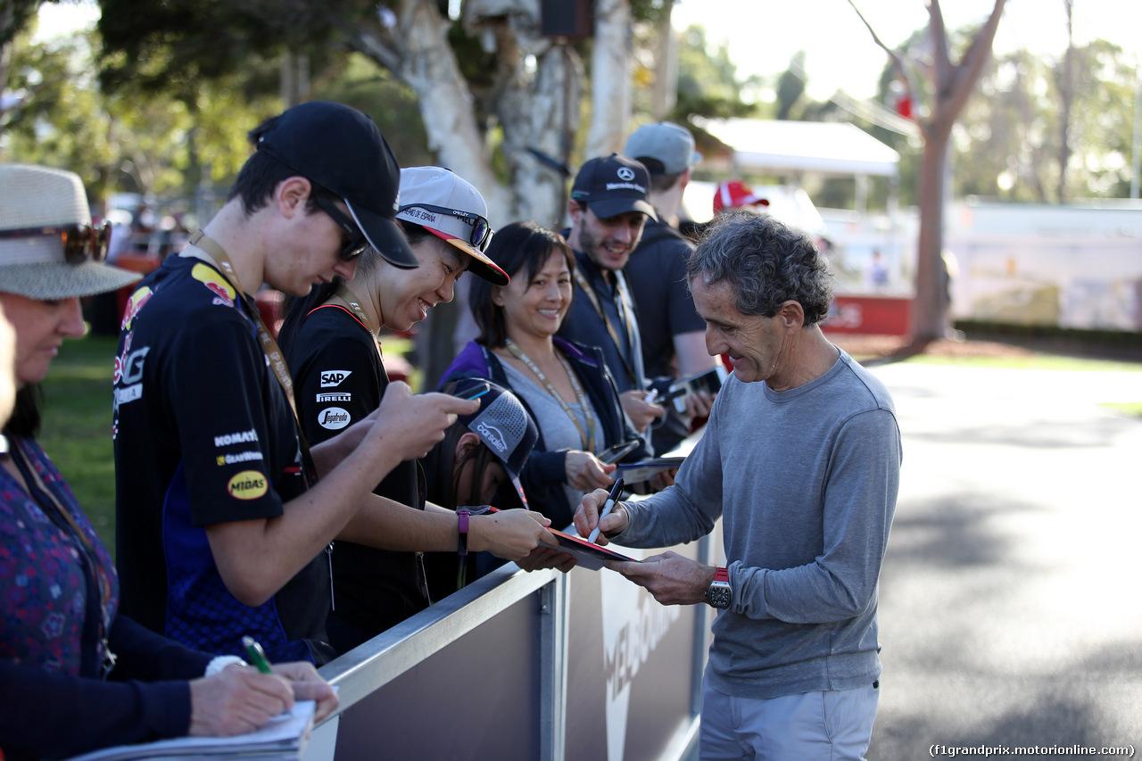 GP AUSTRALIA, 22.03.2018 - Alain Prost (FRA) Renault Sport F1 Team Special Advisor