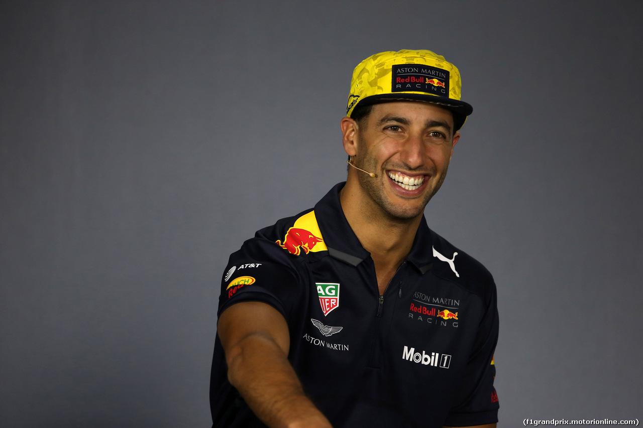 GP AUSTRALIA, 22.03.2018 - Conferenza Stampa, Daniel Ricciardo (AUS) Red Bull Racing RB14