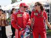 GP AUSTRALIA, 22.03.2018 - Kimi Raikkonen (FIN) Ferrari SF71H e Stefania Boccoli (ITA) Ferrari PR Officer
