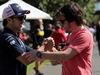 GP AUSTRALIA, 22.03.2018 - Sergio Perez (MEX) Sahara Force India F1 VJM011 e Fernando Alonso (ESP) McLaren MCL33