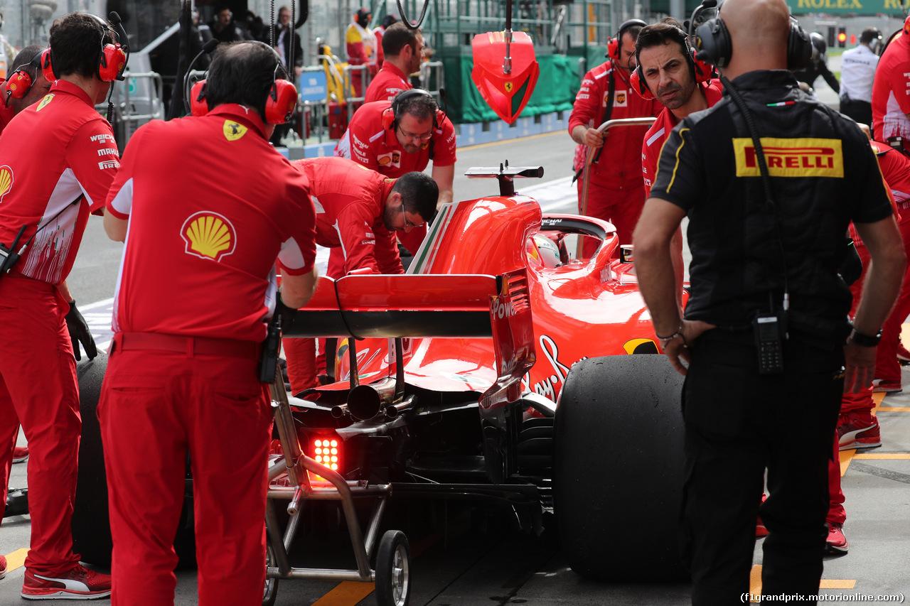 GP AUSTRALIA, 24.03.2018 - Prove Libere 3, Sebastian Vettel (GER) Ferrari SF71H