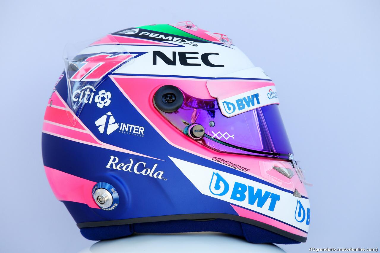 GP AUSTRALIA, 23.03.2018 - The helmet of Sergio Perez (MEX) Sahara Force India F1 VJM011