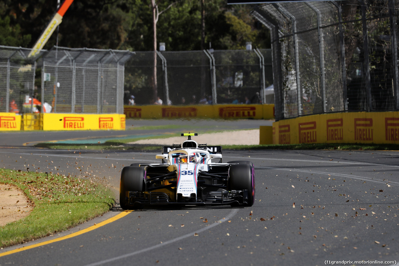 GP AUSTRALIA, 23.03.2018 - Prove Libere 1, Sergey Sirotkin (RUS) Williams FW41