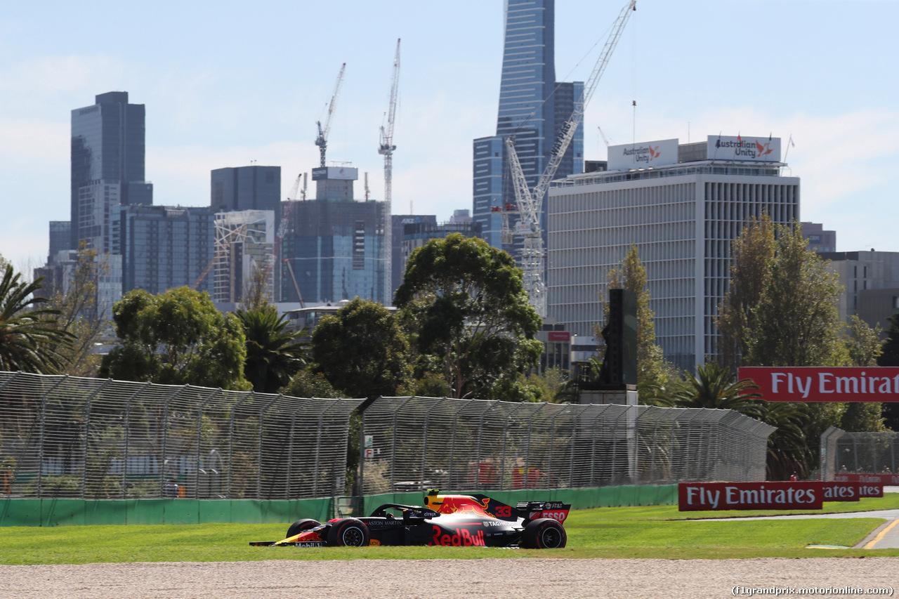 GP AUSTRALIA, 23.03.2018 - Prove Libere 1, Max Verstappen (NED) Red Bull Racing RB14