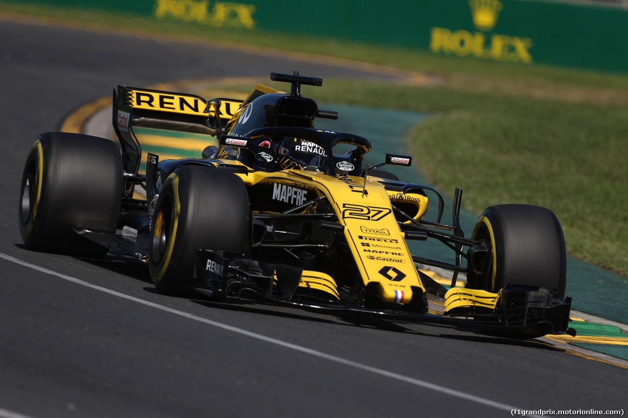 GP AUSTRALIA, 23.03.2018 - Prove Libere 1, Nico Hulkenberg (GER) Renault Sport F1 Team RS18
