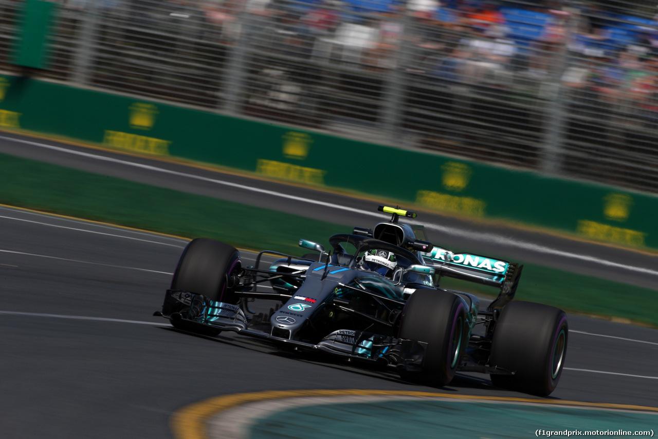 GP AUSTRALIA, 23.03.2018 - Prove Libere 1, Valtteri Bottas (FIN) Mercedes AMG F1 W09