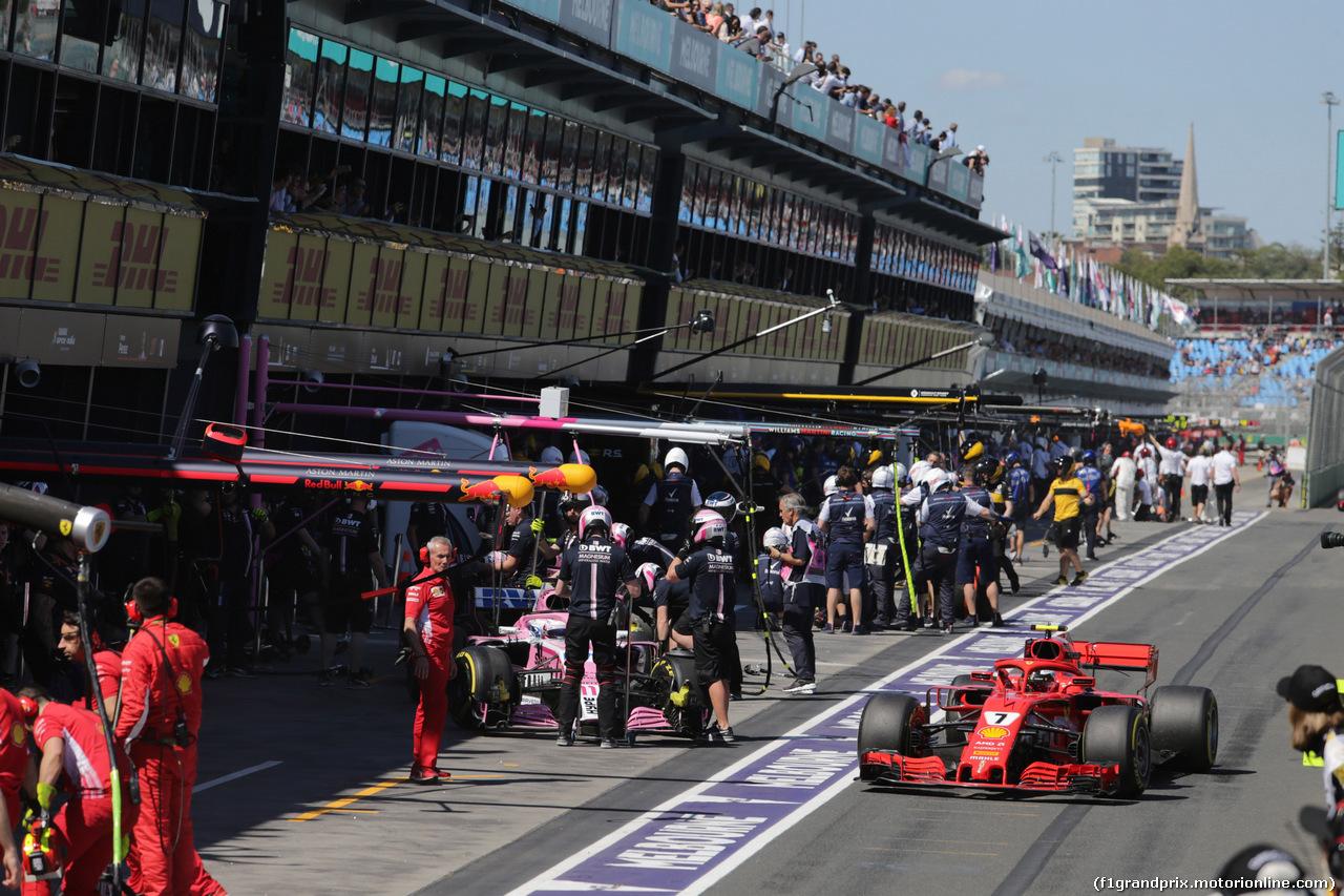 GP AUSTRALIA, 23.03.2018 - Prove Libere 1, Kimi Raikkonen (FIN) Ferrari SF71H