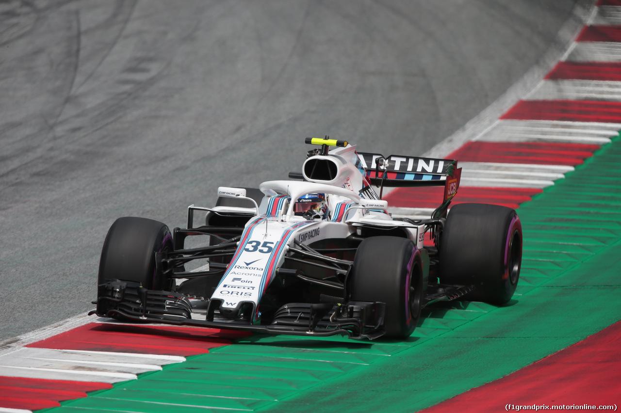 GP AUSTRIA, 30.06.2018- Qualifiche, Sergej Sirotkin (RUS) Williams F1 Team FW41