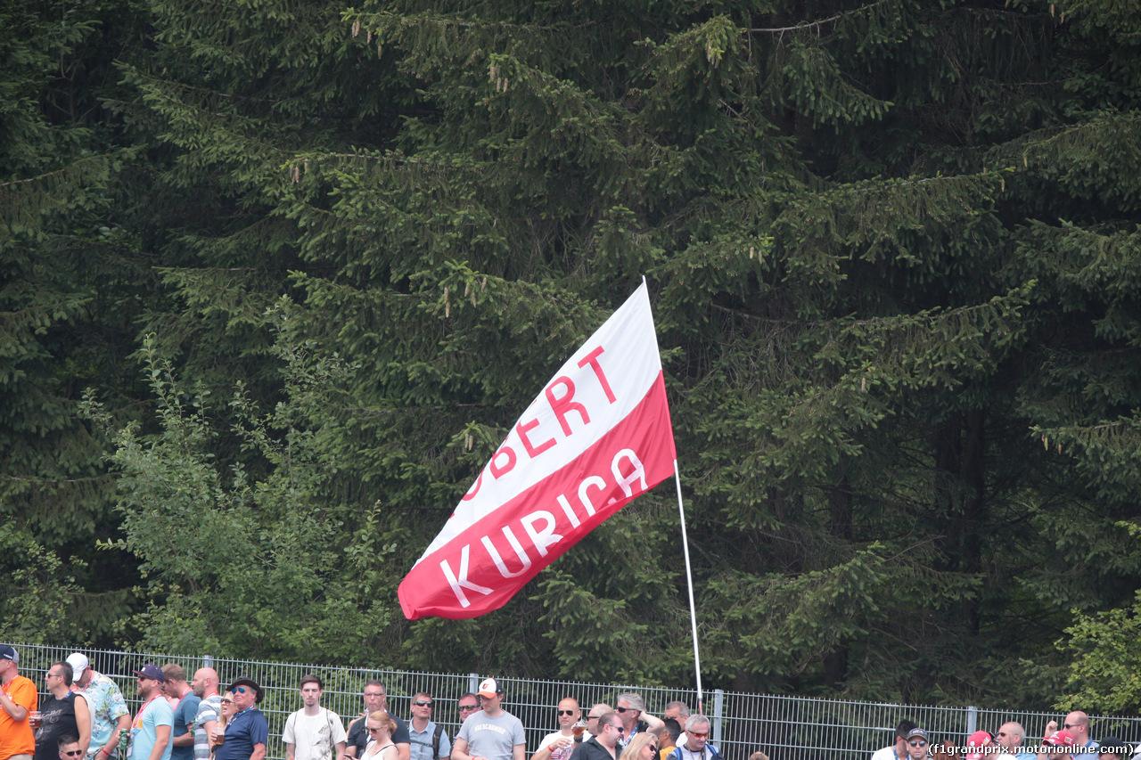GP AUSTRIA, 30.06.2018- Qualifiche, Robert Kubica (POL) Williams Reserve e Development Driver flag
