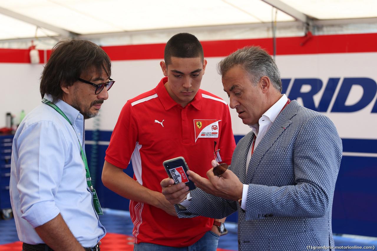 GP AUSTRIA, 01.07.2018- Jean Alesi (FRA) Former F1 Driver e his son Giuliano (FRA) GP3 drier